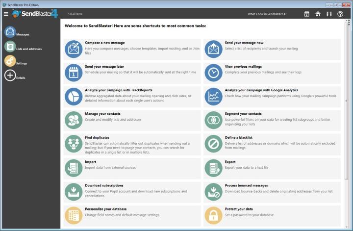 Sistema para disparo de email em massa desktop